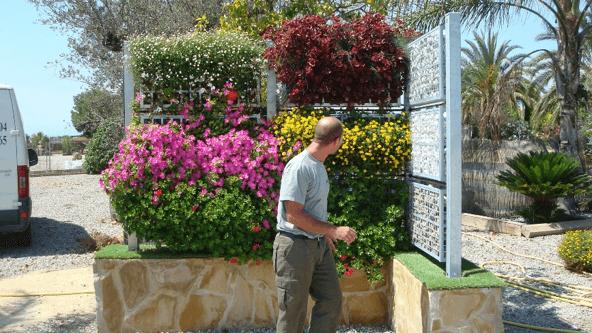 expositor jardin vertical
